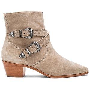 Frye Ellen Buckle Short Boots NEW Ash 7.5M